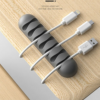 2PCS 7 Clips CBS Cable Winder Earphone Cable Organizer Wire Storage Silicon