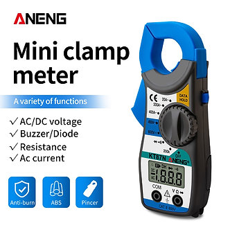 ANENG KT87N Mini Digital Clamp Meters AC/DC Voltage AC Current 600v True RMS