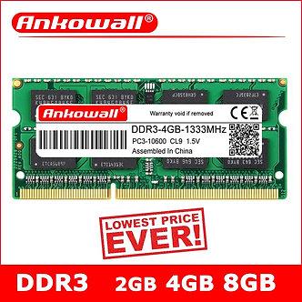 ANKOWALL DDR3 2GB 4GB 8GB Laptop 1066 1333 1600 MHz Sodimm Ddr3l RAM Notebook