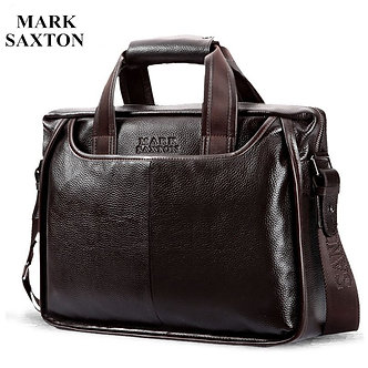 2021 New Fashion Cowhide Male Commercial Briefcase/Real Leather Vintage Men's