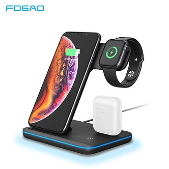 15W Qi Wireless Charger Stand for iPhone 11 Pro X XS MAX XR 8 Fast Charging