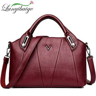 2019 Women Leather Handbags Vintage Soft Leather Female Crossbody Shoulder Bags