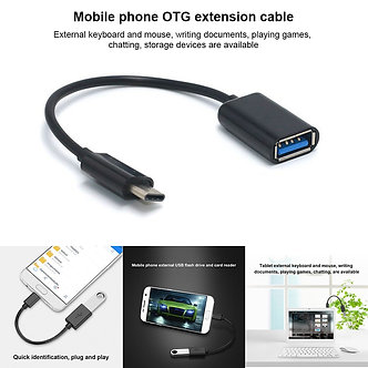 16CM  Type-C OTG Adapter Cable USB 3.1 Type C Male to USB 3.0 a Female OTG Data