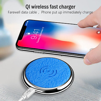 Qi Wireless Electroplate Charging Pad Fast Charger Dock For Samsung Galaxy S8/S7