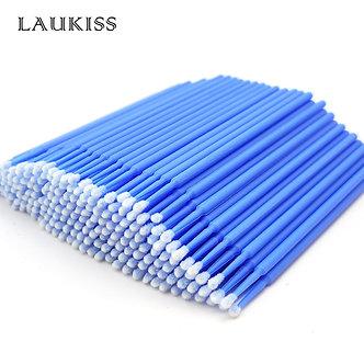 100pcs Micro Make Up Brushes Eyelash Extension EyeLash Glue Brushes Lint Free