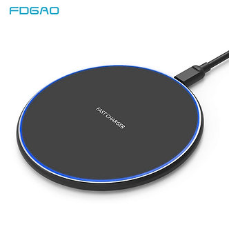15W QI Quick Charging Wireless Fast Charger Usb Tpye C 10W QC 3.0 Charger