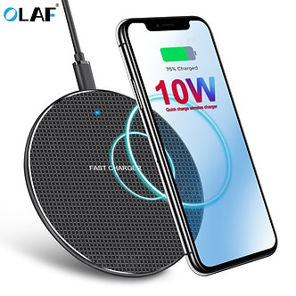 10W Wireless Charger Fast Charging for iPhone X XS 11 Pro Max 8 Qi Wireless