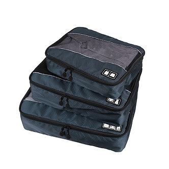 3Pcs/Set Men Travel Bag Packing Cube Clothes Pouch Foldable Duffle Bag Large