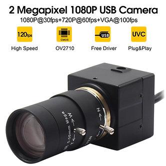 1080P USB Webcam 5-50mm CS Mount Varifocus Lens CMOS OV2710 MJPEG 30fps/60fps