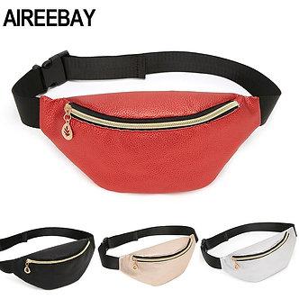 AIREEBAY Casual Women Waist Bag Brand Designer Fanny Packs Retro Style Girls