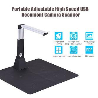 Adjustable USB Book Image Document Camera Scanner 10 Mega-Pixel HD Max. A3