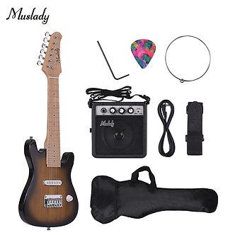 28 Inch Kids Children Electric Guitar Set Kit Maple Neck Body Mini Amplifier