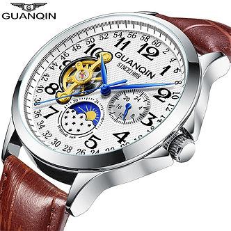 2019 Fashion GUANQIN Mens Watches Top Brand Luxury Skeleton Watch Men Sport