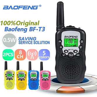 2pcs Wholesale Children Mini Kids UHF Walkie Talkie BF-T3 Baofeng FRS Two Way