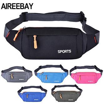 AIREEBAY Waist Pack Women Running Waterproof Waist Bag Mobile Phone Holder