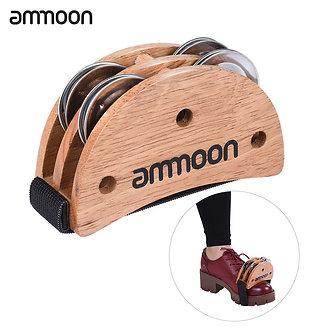 Ammoon Foot Jingle Tambourine Burlywood Elliptical Cajon Box Drum Companion