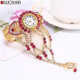 2021 Top Brand Luxury Clock Rhinestone Bracelet Watch Women Watches