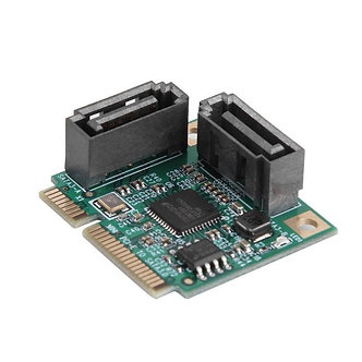 2 Ports Add on Cards Mini PCI-E PCI Express to SATA Cable 3.0 Converter Hard