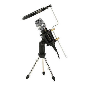 Condenser Studio Vocal Handheld Microphone With Cable KTV Mobile Phone Party BD