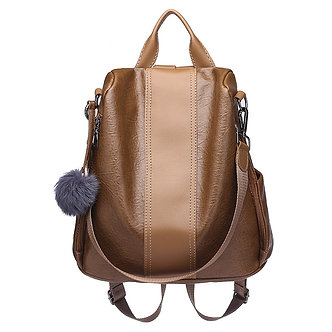 2019 Women Leather Anti-Theft Backpacks High Quality Vintage Female Shoulder