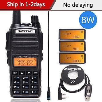 Baofeng UV-82 Plus 8 Watts High Power Walkie Talkie Dual Band VHF/UHF 10km Long