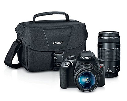 Canon EOS Rebel T6 Digital SLR Camera Kit with EF-S 18-55mm and EF 75-300m