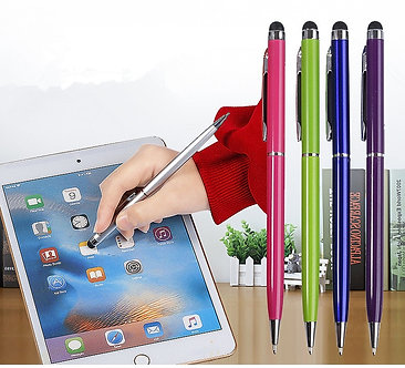 1PC 2 in 1 Capacitive Resistive Pen Touch Screen Stylus Pencil for Tablet iPad