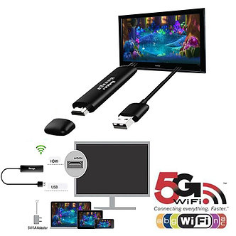 5G Wireless Display Receiver Dongle Miracast for Airplay Dlna HD Wifi Mirroring