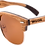 Thumbnail: Real Zebra 1/2 Wood Browline Style RetroShade Sunglasses by WUDN