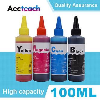 Aecteach Universal 100ml Refill Dye Ink Kit for Epson for Canon for HP