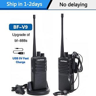 2pcs Baofeng BF-V9 Mini Walkie Talkie USB Fast Charge 5W UHF 400-470MHz Ham CB