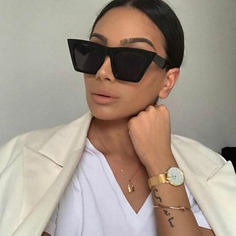 2020 New Brand Sunglasses Square Glasses  Personalized Cat Eyes Colorful