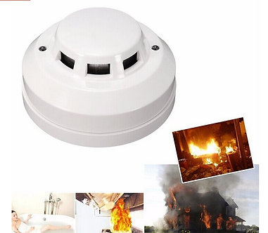 3pcs/Lot Photoelectric Smoke Detector Alarma Wired Sensor Alarm With NO/NC
