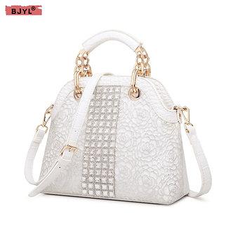 2021 New Luxury Fashion Diamonds Women's Handbag Crocodile Lace Female Shoulder