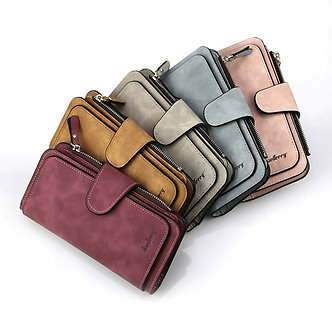 Baellerry Wallet Women Leather Luxury Card Holder Clutch Casual Women Wallets