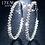 Thumbnail: 17KM Fashion Oversize Circle Hoop Earrings for Women Girl New Geometric Crystal