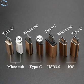 YuXi Type-C Converter to Micro USB 3.0 USB-C Adapter for iPhone & Android