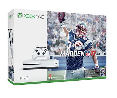 Microsoft Xbox One S Madden NFL 17 Bundle 1TB White Console