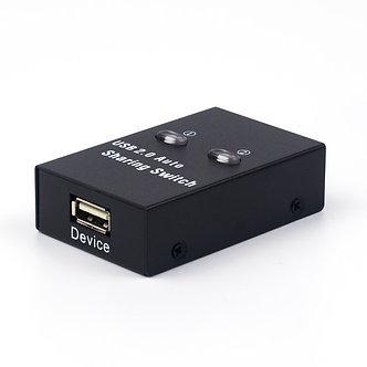 2 Ports USB Switch Splitter Usb2.0 Hub Two Computer Peripherals  Sharing