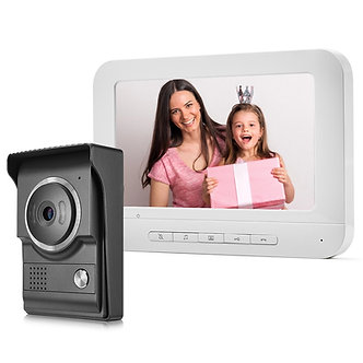 7 Inch Wired Video Doorbell Video Intercom Rainproof Camera Visual Intercom