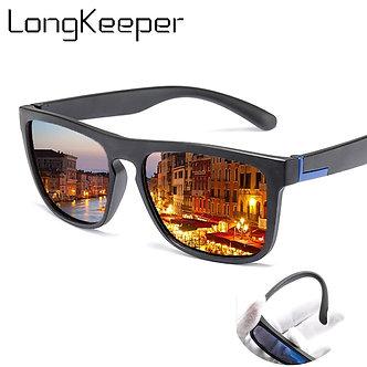 Men Polarized TR90 Sunglasses Vintage Anti-Uv Driving Driver Black Goggles