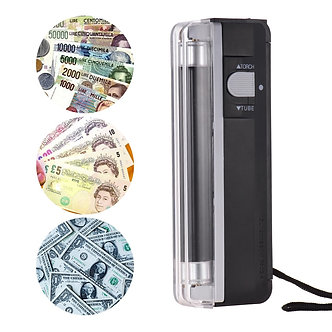 2-In-1Money Detector Portable Mini Counterfeit Cash Currency Banknote Bill
