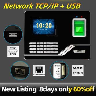 Attendance System Fingerprint TCPIP USB Password Access Control Office Time