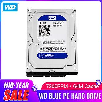 1TB WD Blue 3.5 SATA 6 GB/s HDD Sata Internal Hard Disk 64M 7200PPM  Drive