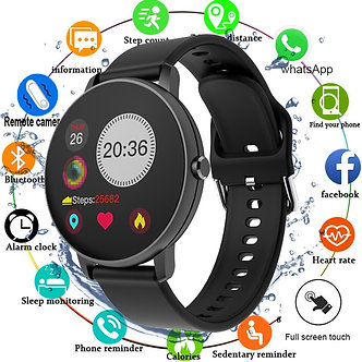 2020 Full Touch Smart Watch Men Blood Pressure Smartwatch Women