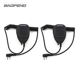 2-Pcs Baofeng Microphone Speaker Mic for Two Way Radio Kenwood BAOFENG