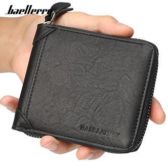 Baellerry Casual Style Zipper Men Wallets Card Holder Small Wallet Male
