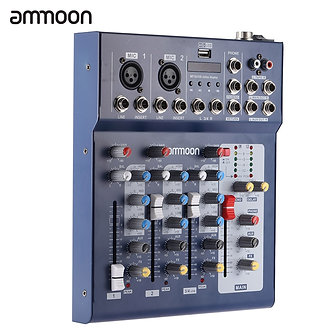Ammoon F4-Usb Mixing Console 3 Channel Digital Mic Line Audio Mixer Console