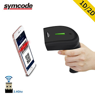 2D Wireless Barcode Scanner,30-100 Meters Transfer Distance,16M Storage Space