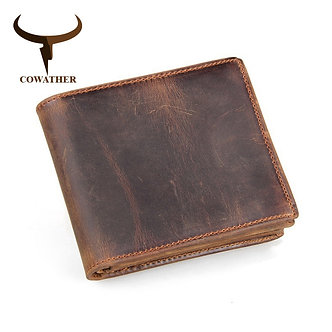 100% Top Quality Cow Genuine Leather Men Wallets Luxury,dollar Price Short Style